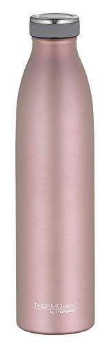 ThermoCafé by THERMOS 4067.284.075 Thermosflasche TC Bottle, Edelstahl Mat Rosé Gold 0,75 Liter, 12 Stunden heiß, 24 Stunden kalt, BPA-Free