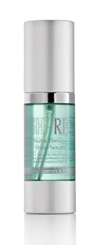 SH-RD Nutra-Therapy Shine Serum. Defrizz. UV + Thermal & Color Protection. Intense Shine and Softness. Prevent + Repair Split Ends. Replenish Moisture