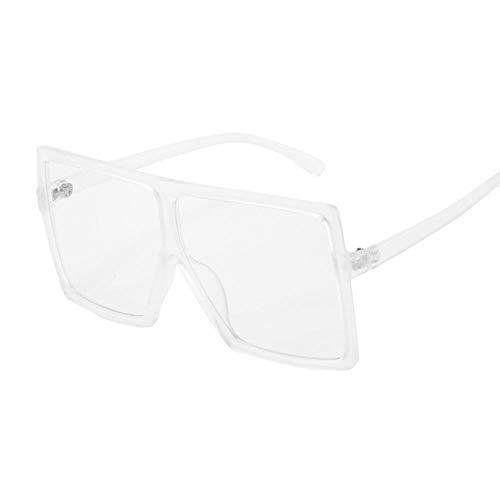 Gafas de sol de gran tamaño para mujer, color rosa, retro, vintage, unisex, para conducir, deportes, golf, pesca, Transparent,