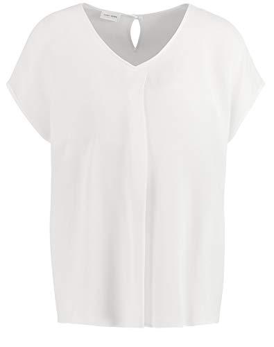 Gerry Weber Damen Bluse Mit Faltendetail Figurumspielend Off-White 44