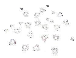 Mondial-Fete - 30 GR confettis métal Rigide Coeurs argents 1.5 cm