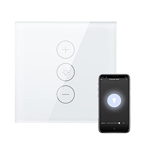 MEILINL Interruptor Luz WiFi Inteligente Compatible con Control de App y Función de Temporizador Interruptores de Pantalla táctil de Vidrio Templado para Hogar Cocina