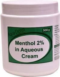 Menthol 2% in Aqueous Cream 500g