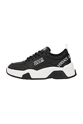 VERSACE JEANS COUTURE 71YA3SF6ZP022 899 - Zapatillas deportivas para hombre, color negro, Negro , 40 EU