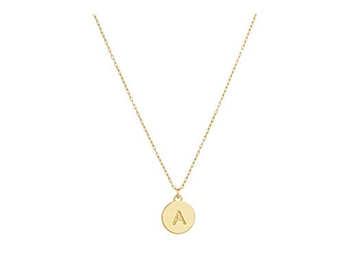 Kate Spade New York A Mini Pendant Necklace Gold One Size