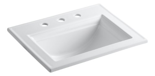 Product Image of the Kohler 2337-8-0 Ceramic Drop-In Rectangular Bathroom Sink, 27.38 x 22.38 x 11.5 inches, White