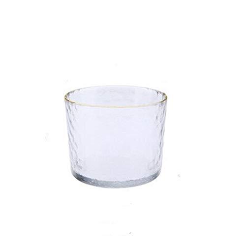 Regali di Nozze Sake Giapponese Pot Set Bordo del Vetro d'oro Sake di Bottiglia Vino di Riso Vodka Tazza del Vino Boccette Liquore Occhiali Bicchieri (Color : Gold Warmer Pot)