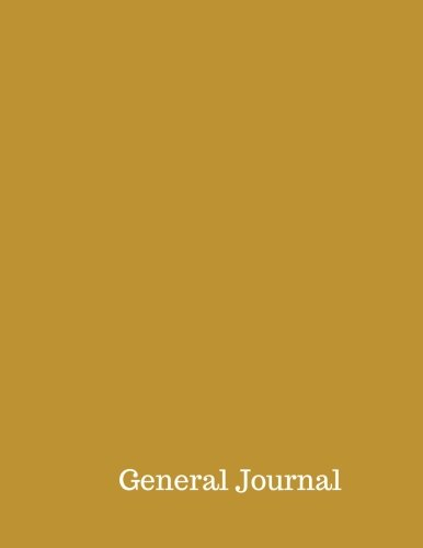 General Journal: Accounting General Journal Entries  Notebook With Columns For Date, Description, Reference, Credit, And Debit. Paper Book Pad with  100 Record Pages 8.5 In By 11 In