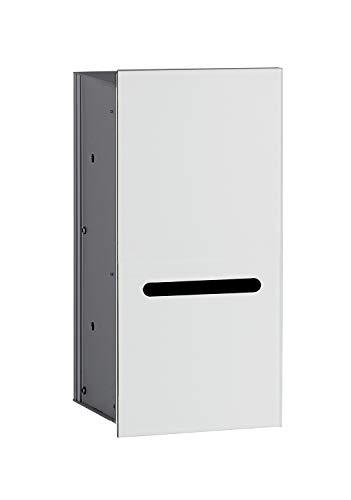 Emco Asis 2.0 inbouw toiletpapierhouder, front optiwhite, inbouwkast, frameloos, deurscharnier links – 972427422