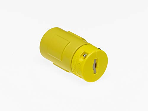 Woodhead 2982 Super-Safeway Connector with Locking Blade - NEMA L22-30 Industrial Plug Connector 30A Current, 480 V. Heavy-Duty Wiring Devices