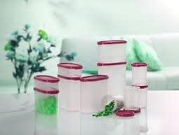 Tupperware Dry Storage Set 11 pcs Set for entire Kitchen (Red)