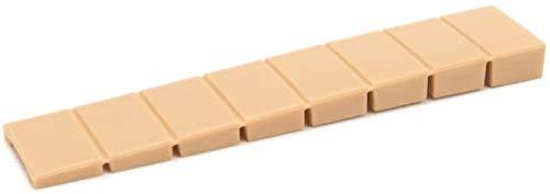 10 x sossai® Möbelkeile MKB-100 | Unterlegkeile/Ausgleichskeile aus Kunststoff mit integrierten Soll-Bruchstellen | Farbe: Beige