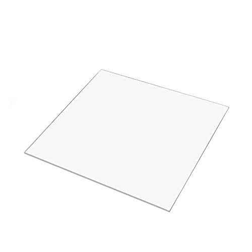 140mm x 140mm x 3mm Borosilicate Glass Build Plate/Bed for Mini 3D Printer Printbed