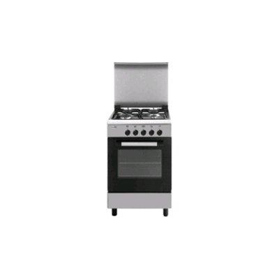 Glem cucina 53x50 4f gas forno elettr. valvolati inox