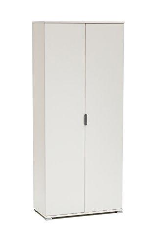 MeMi Me281BIA Armadio, Legno, Bianco, 36.5x75x174 cm
