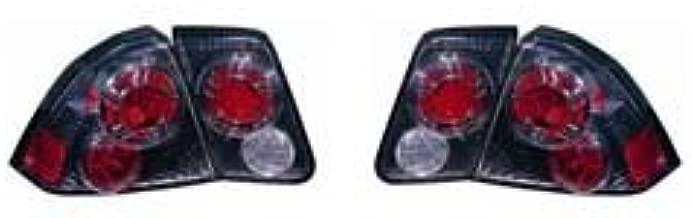 Fits Honda Civic Sedan 2001-2005 Tail Lights (Inner & Outer) Assembly Unit WHEEL Gun Metal Type HO2811276