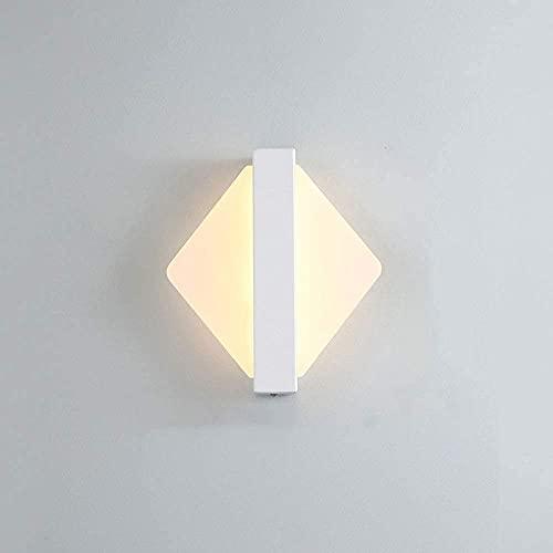 FXLYMR Lámpara de Pared Candelabro Moda de Lujo Soportes Empotrados Simples Interior Siet 7W Leds Nordic, para Sala de Estar Dormitorio Restaurante Iluminación Decorativa