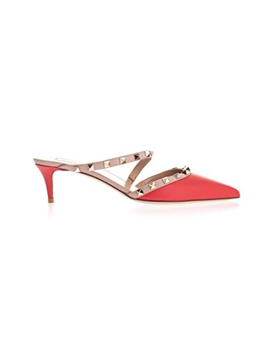 Valentino Luxury Fashion Garavani Damen SW2S0Q34VOD95B Rot Leder Sandalen   Herbst Winter 19