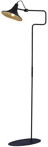 Homemania HOMAX_4657 - Lámpara de suelo Wiseper para interiores, suelo negro, metal, 45 x 55 x 143 cm