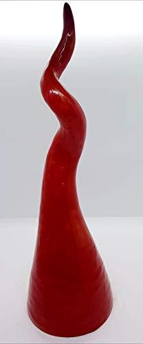 Corno Portafortuna Ceramica da tavolo scrivania comodino Handmade Le Ceramiche del Castello Made in Italy Dimensioni 40 x 13 centimetri Idea Regalo