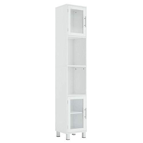 71' Tall Tower Bathroom Storage Cabinet Organizer Display Shelves Bedroom White
