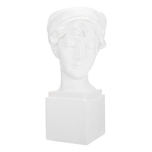 Cabilock Mini Maceta de Resina Suculenta Maceta Jarrón Estatua Griego Plantador Urna Hogar Decoración de Jardín Escultura para Casas Y Oficinas Blanco
