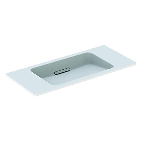 Geberit One wastafel zwevend ontwerp 500390, zonder kraangat, met overloop, 900x400mm, Kleur: Wit glanzend - 500.390.01.3