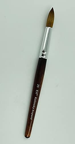 EX Kolinsky Acrylic Nail Brush for Acrylic Powder Manicure Pedicure - Size #20 (Crimped)