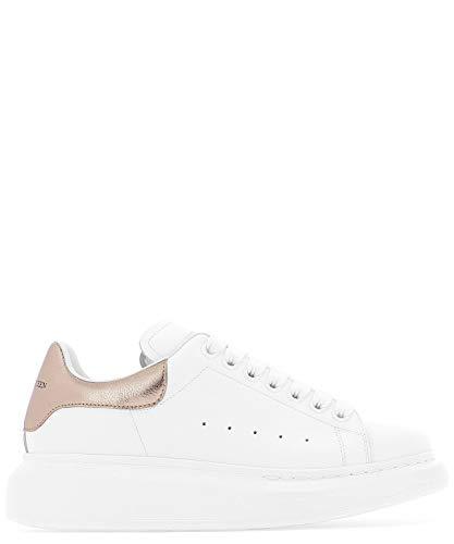 Alexander McQueen Luxury Fashion Damen 553770WHFBU9053 Weiss Leder Sneakers | Jahreszeit Permanent