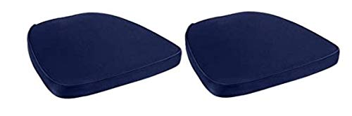 Prime Products Chair Pad   Seat Padded Cushion with a Polycore Thread Soft Fabric, Straps and Removable Zippered Cover (Black)