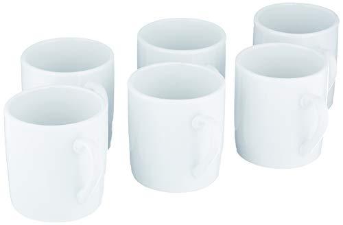 Baker Ross E774 Mini-Porzellan-Tassen (6 Stück) - Kleine Tassen für Kinder zum Dekorieren und Gestalten