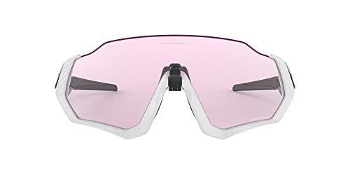 Oakley Men's Flight Jacket Rectangular Sunglasses, Matte Grey, 0 mm