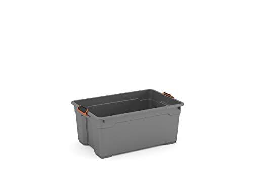 Kis Moover Box Pro L mit Rädern – 58 x 38 x 28 H Grau/Schwarz