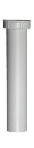 Verstellrohr für Geruchsverschluss | Tauchrohr für Spülengeruchsverschluss | Kunststoff | Küchenspüle | 1 1/2 x 40 x 200 mm