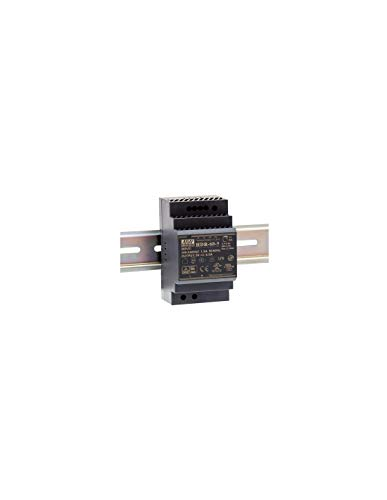 Mean Well HDR-60-12 Fuente de alimentación: 1 Salida de 60 W, Montaje en Carril DIN 12 V, 4,5 A, para Uso Industrial
