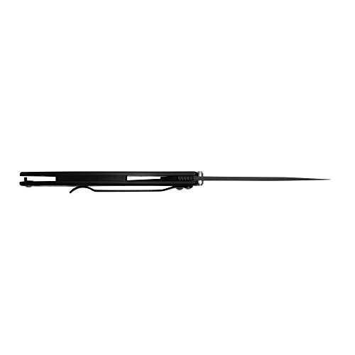 "Kershaw Leek, Black Folding Knife (1660CKT); 3"" 14C28N Sandvik Steel Blade, 410 Stainless Steel Handle, Both DLC-Coated; SpeedSafe Assisted Opening, Liner Lock, Tip Lock, Reversible Pocketclip; 3 OZ."