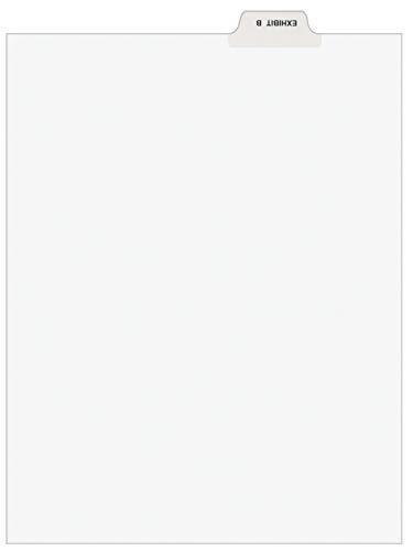 Avery 11941 Avery-Style Preprinted Legal Bottom Tab Divider, Exhibit B, Letter, White (Pack of 25)
