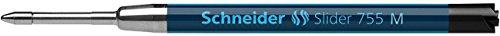 Schneider Schreibgeräte Kugelschreibermine Slider 755, dokumentenecht, M, schwarz
