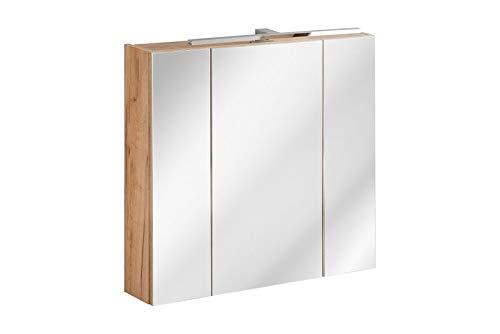 Jadella spiegelkast 'Sun 80' badkamerspiegel 80 cm eikenhout decor met verlichting