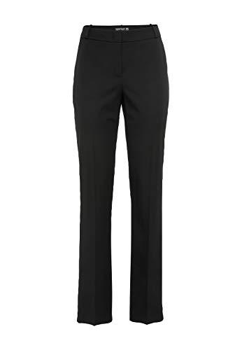 HALLHUBER Business-Hose mit Bügelfalte schmal geschnitten schwarz, 42
