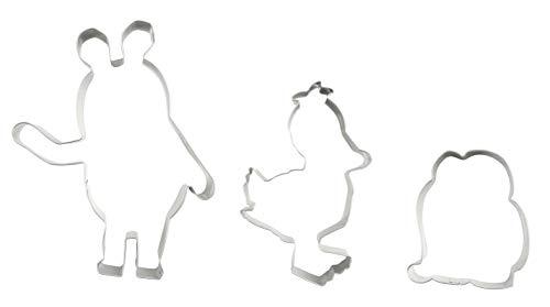 Dr. Oetker Ausstecher-Set Maus & ihre Freunde DieMaus, langlebige Maus-, Elefanten- & Enten-Form, Tiereausstecher aus hochwertigen Edelstahl (Farbe: Silber), Menge: 1 x 3er Set