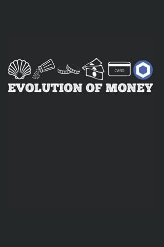 Die Evolution des Geldes Kettenglied LINK Krypto Kryptowährung: DIN A5 Kariert 120 Seiten / 60 Blätter Notizbuch Notizheft Notiz-Block Chainlink, LINK, Crypto, Hodl & Blockchain Designs