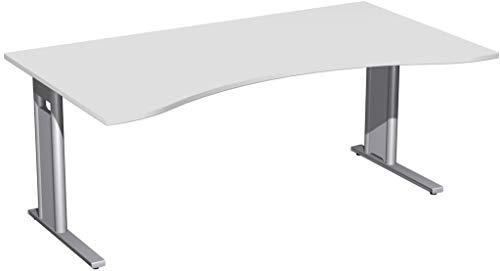 Geramöbel C-Fuß Pro Cockpit-Schreibtisch, Verschiedene Größen und Farben, Farbe:Lichtgrau, Größe Tischplatte:180 x 100 cm