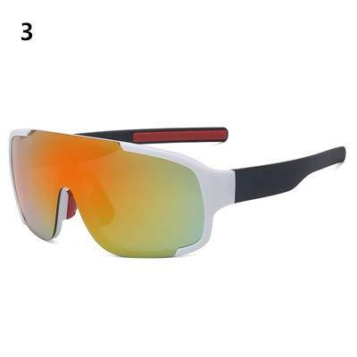 WJBABJ Ciclismo Gafas Gafas Ciclismo de montaña tráfico de la Bicicleta Bike Sport Gafas de Sol for Hombre de la Bicicleta Eyewear (Color : 3)