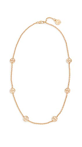 Tory Burch Women's Delicate Logo Necklace, Tory Gold, One Size