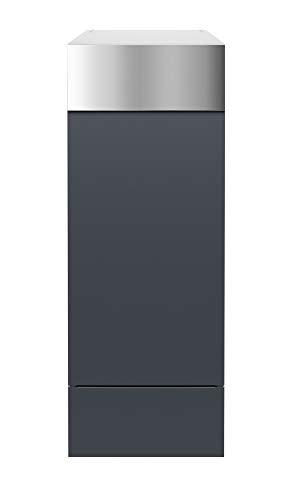 frabox Design Paketkasten Namur anthrazit/edelstahl - 2