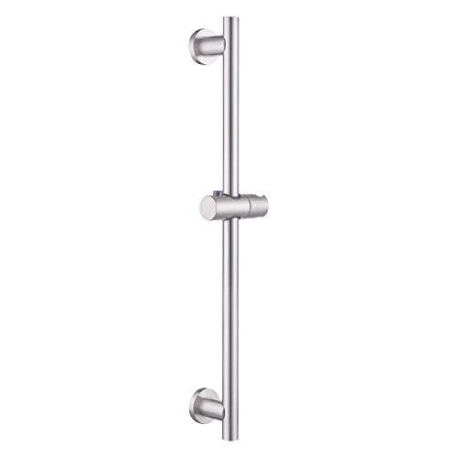 KES Duschstange Ohne Bohren Brausestange mit Duschkopfhalterung Verstelltbar Wand Stange Duschhalterung SUS304 Edelstahl Dusche Duschsystem Gebürstet, F204DG-BS