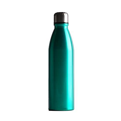 Cieffe- Borraccia Termica In Acciaio Inox Per Sport , Scuola, Lavoro- Bottiglia Acqua, senza BPA, Con Isolamento A Doppia Parete 820Ml (smeraldo)