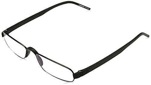 Rodenstock Unisex Lesebrille ProRead R2180, Lesehilfe bei Weitsichtigkeit, Brille mit leichtem Edelstahlgestell (+1 / +1,5 / +2 / +2,5), Silber, +2,0