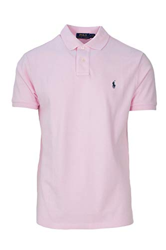 Polo Ralph Lauren Mens Custom Slim Fit Polo Shirt (M, Bath Pink)